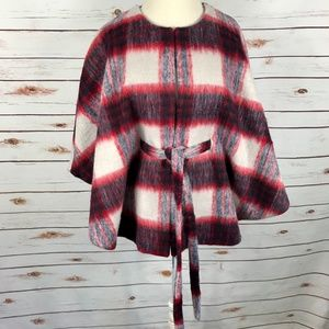 Andersen & Lauth Anthro Poncho Cape Check Plaid